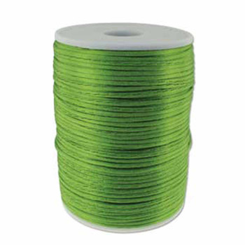 5 Yards Satin Cord  2mm Apple Green 5 Yards