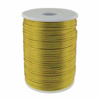 5 Yards Satin Cord  2mm Antique Gold 5 Yards