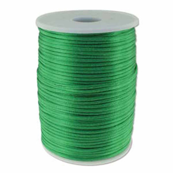 5 Yards Satin Cord  2mm Emerald 5 Yards