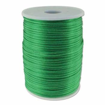 5 Yards Satin Cord  2mm Emerald 5 Yards