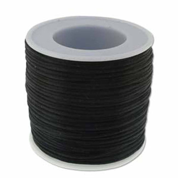 5 Yards Satin Cord  1mm Black 5 Yards