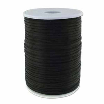 5 Yards Satin Cord  2mm Black 5 Yards