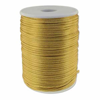 5 Yards Satin Cord  2mm Camel 5 Yards