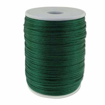 5 Yards Satin Cord  2mm Dark Green 5 Yards