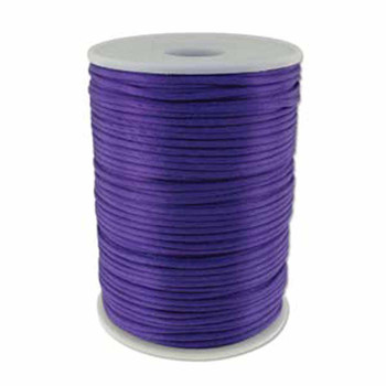 5 Yards Satin Cord  2mm Purple 5 Yards
