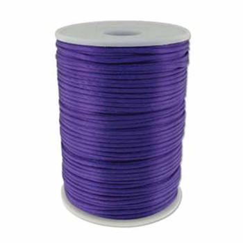 5 Yards Satin Cord  2mm Purple 5 Yards