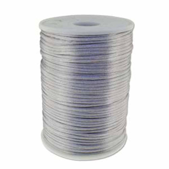 5 Yards Satin Cord  2mm Silver 5 Yards