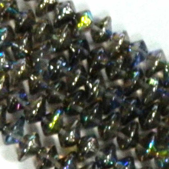 7X11mm Czech Glass Beads Ufo Crystal Graph Rainbow 20 Beads per loose strand