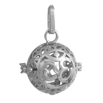 Harmony Ball Wish Box Pendants Round Silver Tone Fits 16mm Can Open