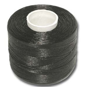 Nymo Nylon Seed Bead Thread Size B Black large bobin  350 yards