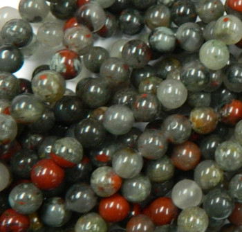 8mm Blood Agate African Round Beads Gemstone Beads 15 Inch