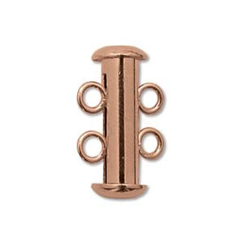 1 Clasp Multi 2 Strand Slide Lock Clasps Copper Plated Brass Clsp03Cp