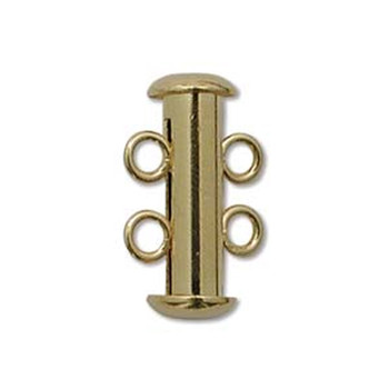 1 Clasp Multi 2 Strand Slide Lock Clasps Gold Plated Brass Clsp03Gp