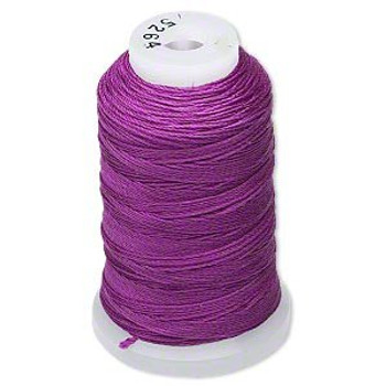 Silk Beading Thread Cord Size Ff Plum 0.015 Inch 0.38mm Spool 115 Yd 5146Bs