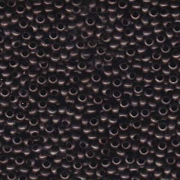 15/0 Metal Seed Bead Dark Copper Approx 17 Grams