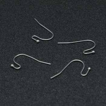 35 pair (70) 304 Stainless Steel Earring Hooks, Stainless Steel Color  Size: about 12mm wide, 22mm long, 2mm thick; pin: 0.6mm.