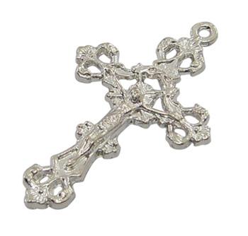 1pc Silver Plated Zinc Crucifix Cross Pendant 43x26mm Hole 2mm