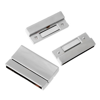 "1pc Magnetic Clasps Rectangle Silver Tone 32mm(1 2/8"") x 19mm( 6/8"")"