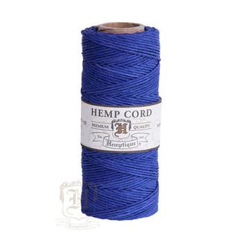 Blue #20 1mm Hemp Cord 50grm Spool 200 feet