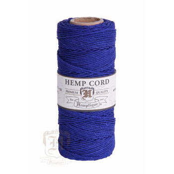 Royal Blue #20 1mm Hemp Cord 50grm Spool 200 feet