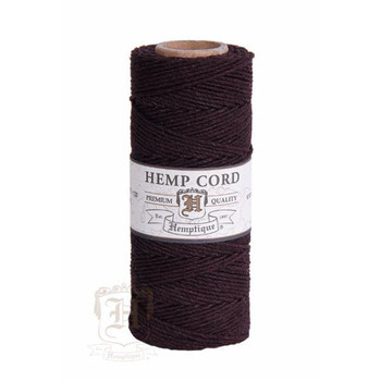 Chocolate Brown #20 1mm Hemp Cord 50grm Spool 200 feet
