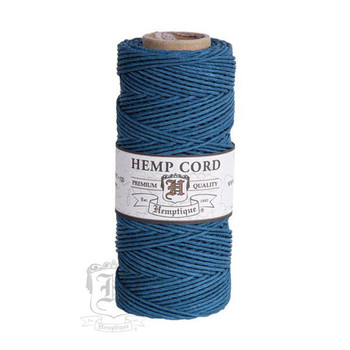 Aquamarine #20 1mm Hemp Cord 50grm Spool 200 feet