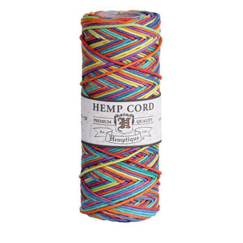 Rainbow #20 1mm Hemp Cord 50grm Spool 200 feet