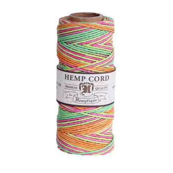Neon #20 1mm Hemp Cord 50grm Spool 200 feet