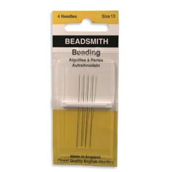 4 pack John James English Beading Needles Size 13