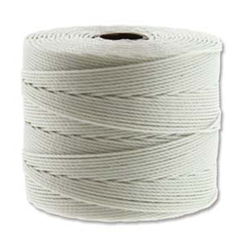 S-Lon Nylon Beading Cord FINE Tex 135  0.4mm CREAM