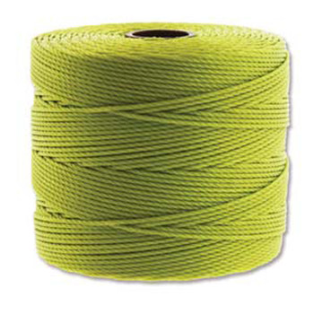 S-Lon Nylon Beading Cord FINE Tex 135  0.4mm CHARTREUSE