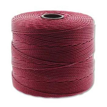 S-Lon Nylon Beading Cord FINE Tex 135  0.4mm DK RED