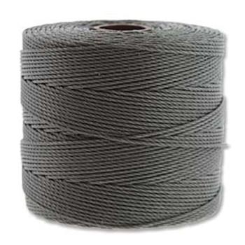 S-Lon Nylon Beading Cord FINE Tex 135  0.4mm GREY