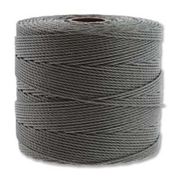 S-Lon Nylon Beading Cord FINE Tex 135  0.4mm GREY