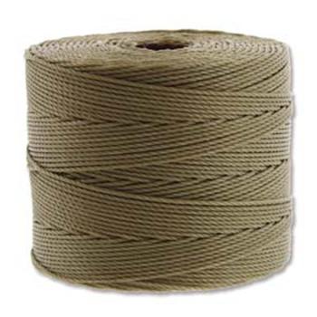 S-Lon Nylon Beading Cord FINE Tex 135  0.4mm KHAKI