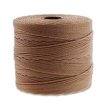 S-Lon Nylon Beading Cord FINE Tex 135  0.4mm LT COPPER