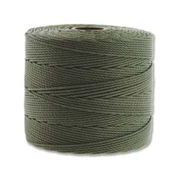 S-Lon Nylon Beading Cord FINE Tex 135  0.4mm OLIVE