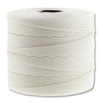 S-Lon Nylon Beading Cord FINE Tex 135  0.4mm WHITE