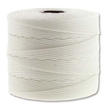 S-Lon Nylon Beading Cord FINE Tex 135  0.4mm WHITE