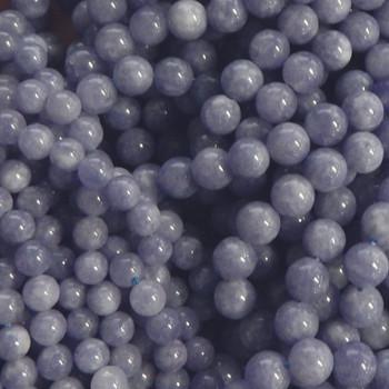 "4mm Volet Sunstone Dyed Gemstone Round Beads 15"" Loose Strand"