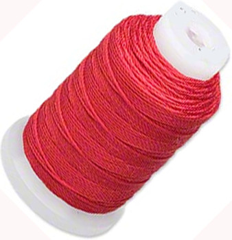Simply Silk Beading Thread Cord Size F Red 0.0137 0.3480mm Spool 140 Yards For Stringing Weaving Knotting 5027Bs