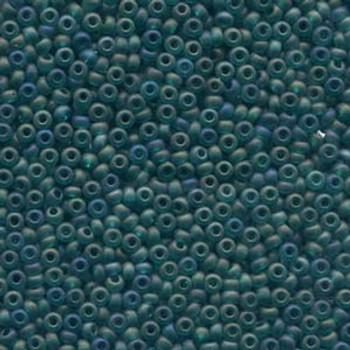 20 Grams Czech 6/0 Glass Seed Beads Emerald Matte Ab Approx 20 Grams