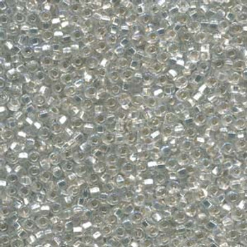 20 Grams Czech 6/0 Glass Seed Beads Crystal Silver Lined Ab Approx 20 Grams
