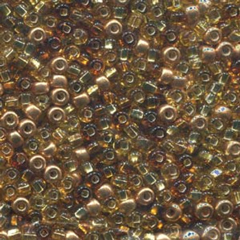 20 Grams 6/0 Royal Topaz Mixed Czech Glass Seed Beads Approx 20 Grams