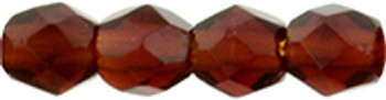 48 FirePolished Faceted Czech Glass Beads 3mm Ruby 3009