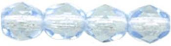 48 FirePolished Faceted Czech Glass Beads 4mm Light Sapphire