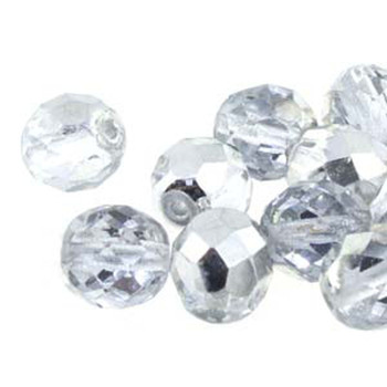 38 FirePolish 4mm Round Crys Labrador Czech Glass Beads Fire Polished