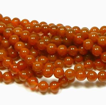 "10mm Carnelian Round Beads 40Cm 15"" Stone B1- 10D17"