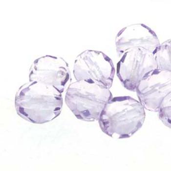 38 FirePolish 4mm Round Dk Tanzanite Czech Glass Beads Fire Polished