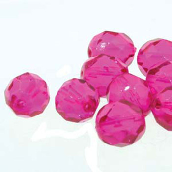 38 FirePolish 4mm Round Fuchsia Czech Glass Beads Fire Polished
